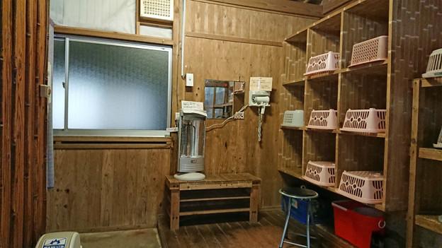 湯川内温泉 かじか荘 (19) 下の湯脱衣所