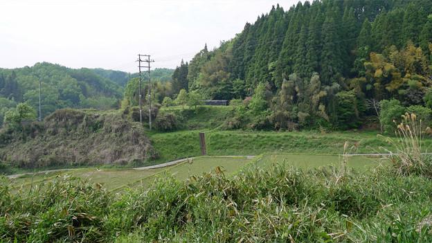 宮迫石仏 (7) 東石仏付近から、西石仏への入口を見る