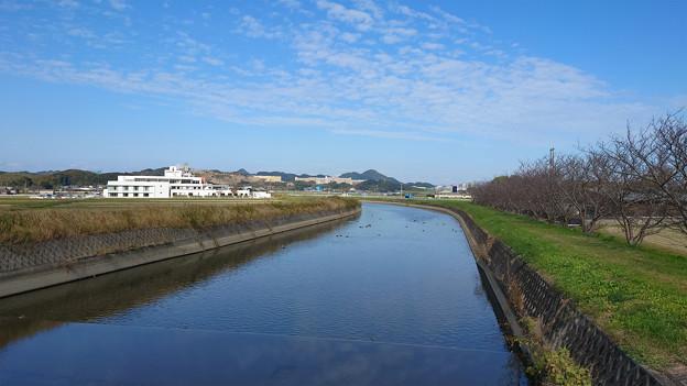 雷山川と九州大学伊都キャンパス