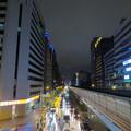 颱風前夕的台北街頭