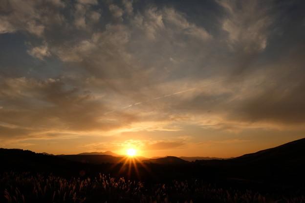 平尾台の夕陽