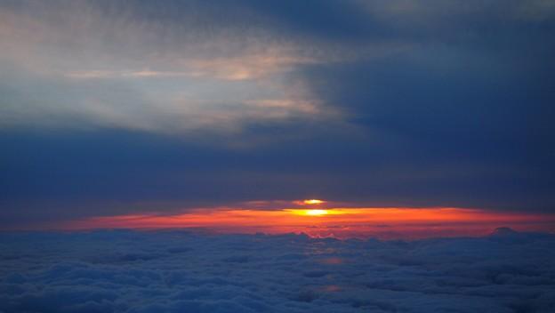 空から夕日3