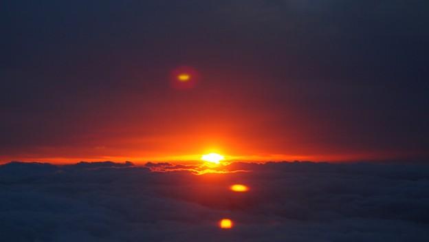 空から夕日~4