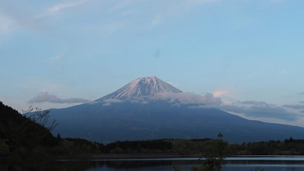 田貫湖の夕富士