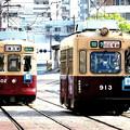 写真: 交差する御年70歳と61歳の「名車両」の2人(二両)だよぉ~(´▽`*)