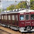 Photos: 阪急7300系7326F(#7326×2R)
