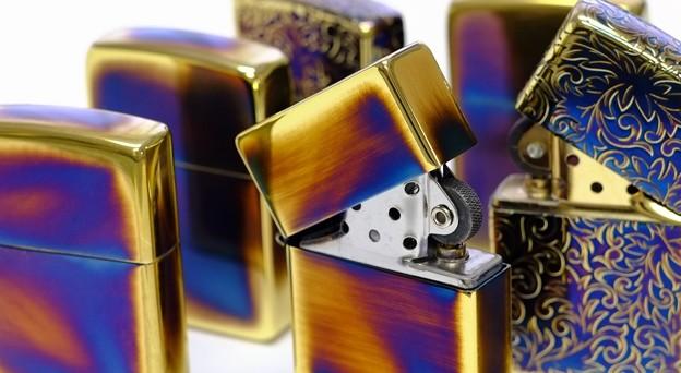 【 Zippo 】金イブシ加工のジッポーライター【 Gold Antique 】