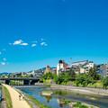 Photos: 鴨川と青い空