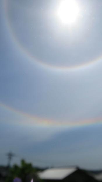 二重のハロ(日暈)と環天頂アーク  修正