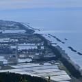 あさひ城山から 富山湾と水田 遠くに能登半島