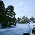 雪の霞が池
