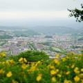 写真: 金沢市 卯辰山から 山側の街並み