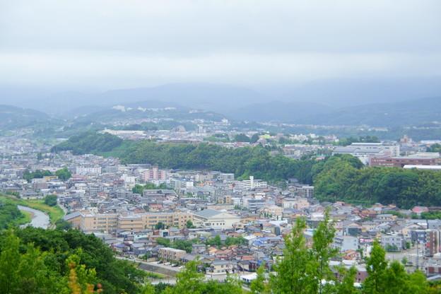 金沢市 卯辰山から 山側の街並み
