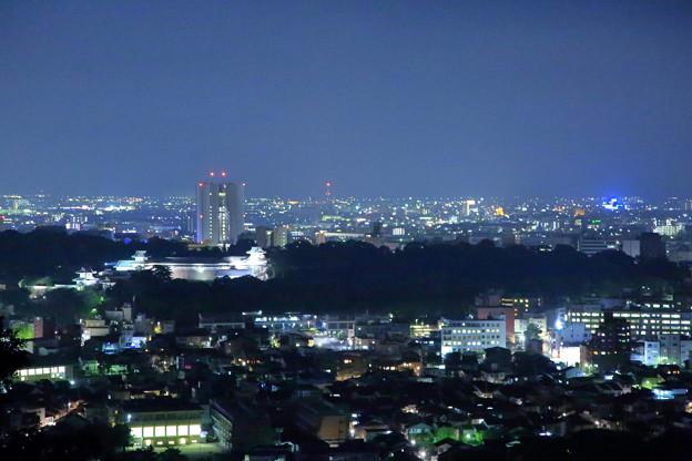 金沢市の街並みと夜景(2) 金沢城