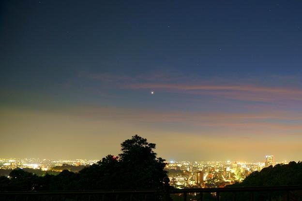 金沢市の夜景と街並み(3)一番星☆