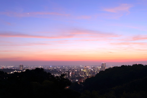 Photos: 金沢市の夕焼けと夜景