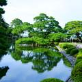 写真: 霞が池と唐崎松