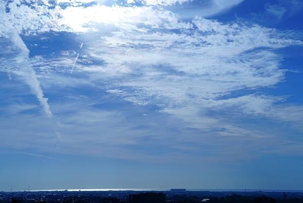 秋空と日本海