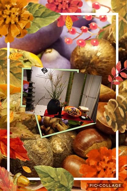 秋の味覚 ディスプレィ