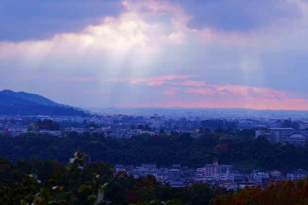 奥卯辰山健民公園から  光芒