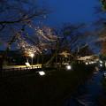 金沢城 ライトアップ お堀