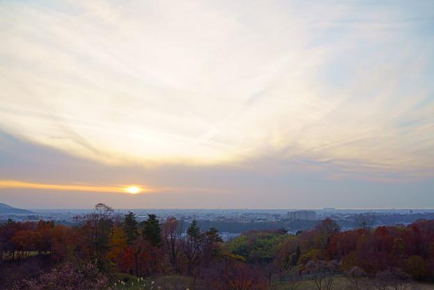 夕焼けと紅葉(3)