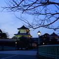 Photos: 夕暮れの石川門 石川橋