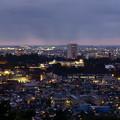 新年  金沢市の夜景  金沢城と遠くに日本海