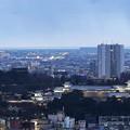 卯辰山見晴台から  金沢城と日本海