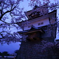 Photos: 金沢城 菱櫓と桜 観桜期ライトアップ