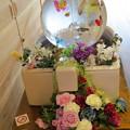 Photos: 金魚の水槽とバラ(シルクフラワー)