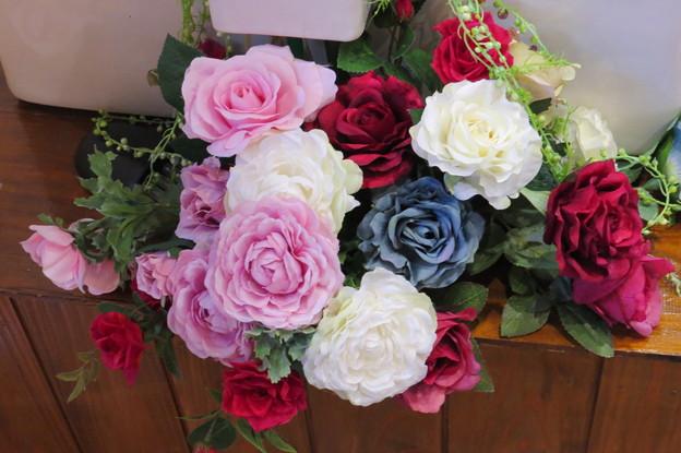 シルクフラワー 薔薇