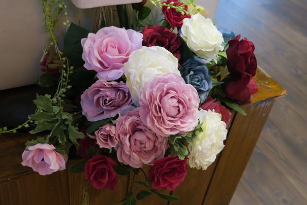 シルクフラワー 薔薇(2)