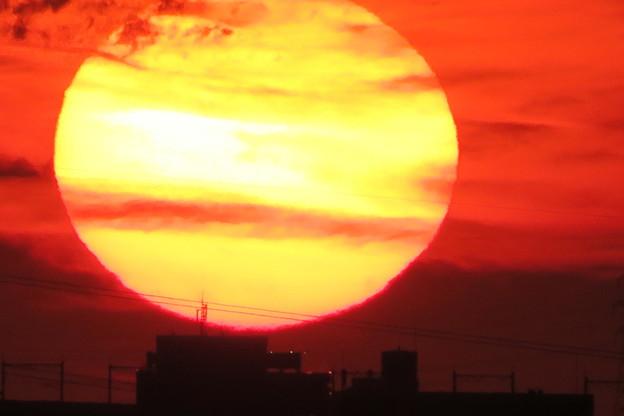 巨大な夕陽(1)