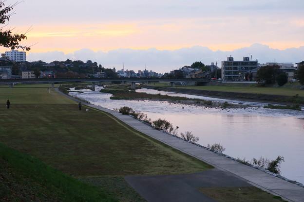 Photos: 夕暮れの犀川