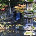 兼六園 翠滝と海石塔