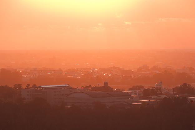 夕日に染まる 街並み