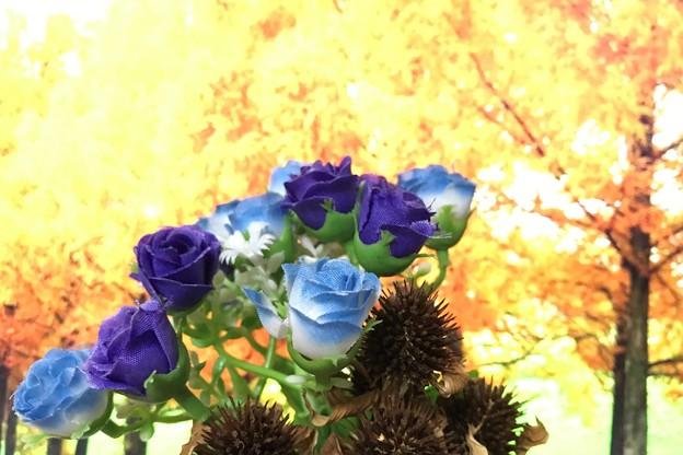造花とエキナセアのドライ