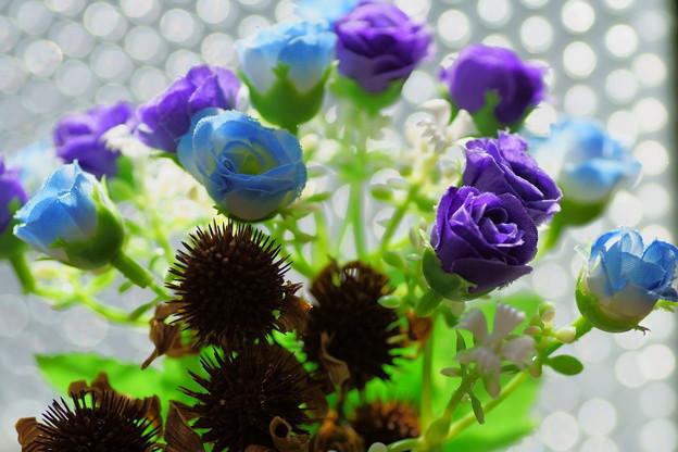 造花とドライフラワー(エキナセア)