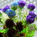 Photos: 造花とドライフラワー(エキナセア)