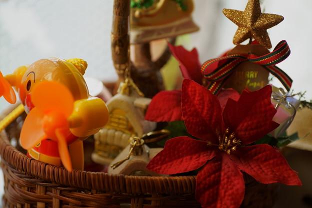 ポインセチア(造花)