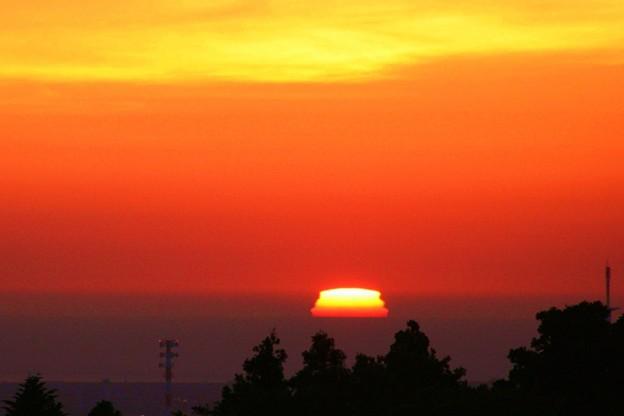 三段夕日 2007年