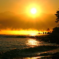 平成の思い出 2007年 雨晴海岸から 剱岳と日の出(2)