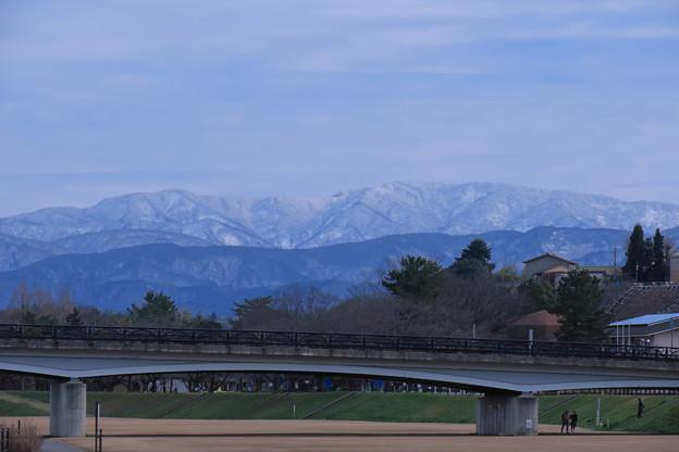 Photos: 犀川から 雪の山並み