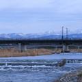 犀川から山並み