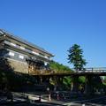 Photos: 鼠多門(再建工事中)  尾山神社に繋がる鼠多門橋
