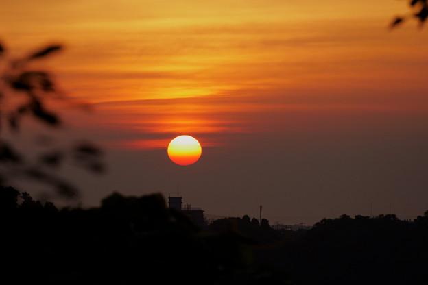 夕日 梅雨の晴れ間