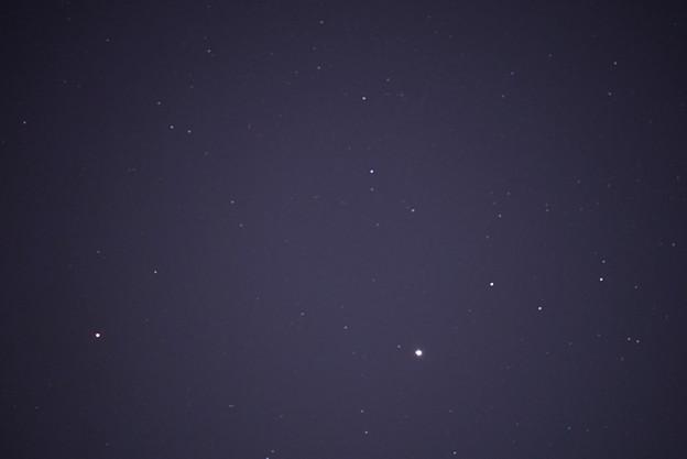 自宅窓から 新月の星空