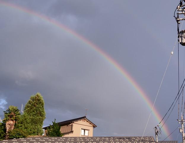 Photos: 帰り道の大きな虹(2)