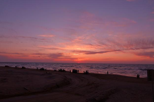 千里浜なぎさドライブウェイ 夕景